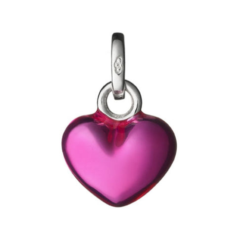 Links of London Mini Pink Metallic Heart Charm - 5030.1393