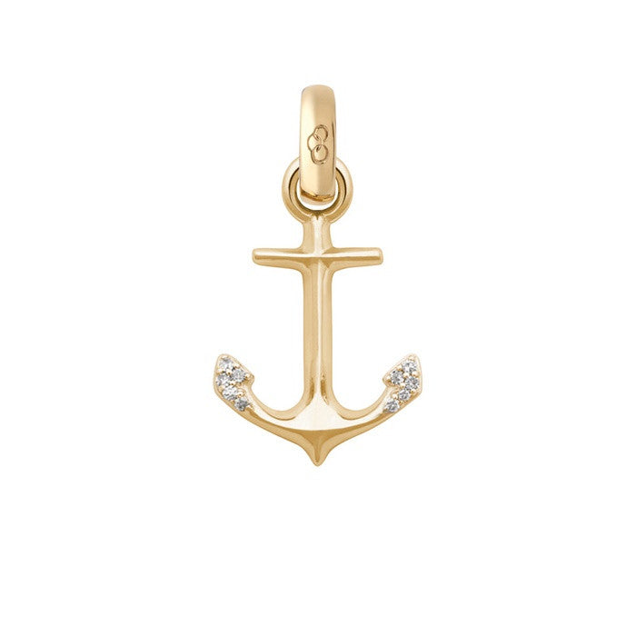 Links of London 18K Yellow Gold & Diamond Anchor of Hope Charm - 5030.1846