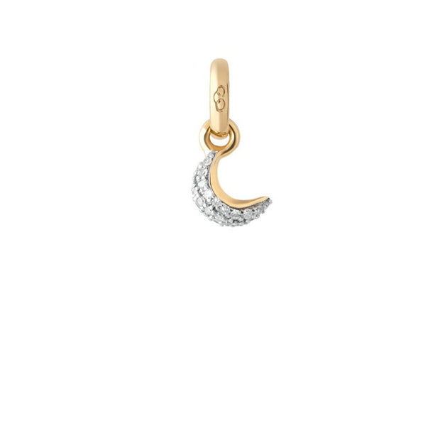 Links of London Mini Pave Moon 18K Yellow Gold & Diamond Charm - 5030.2328