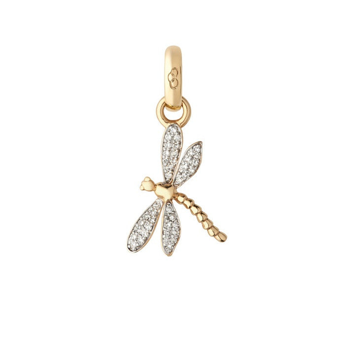 Links of London Dragonfly 18K Yellow Gold & Diamond Charm - 5030.2331