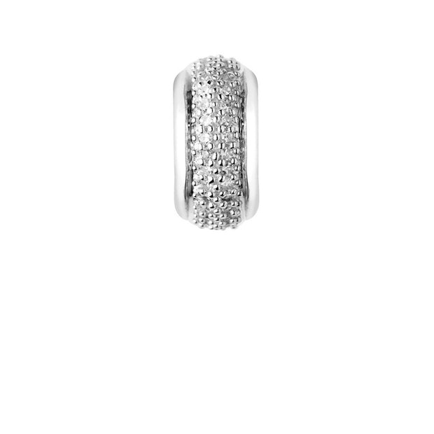 Links of London Sweetie Sterling Silver & White Diamond Pave Rondelle Bead - 5030.2355