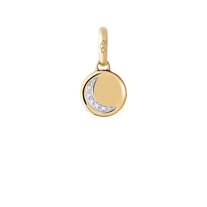 Links of London Crescent Moon Diamond Disc Charm - 5030.2367