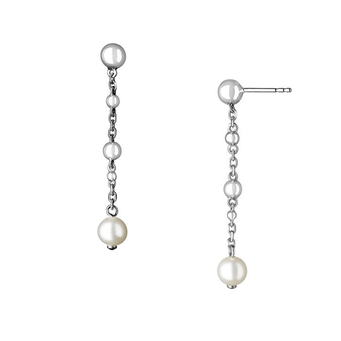 Links of London Sterling Silver Effervescence Pearl Stilletto Earrings - 5040.1732