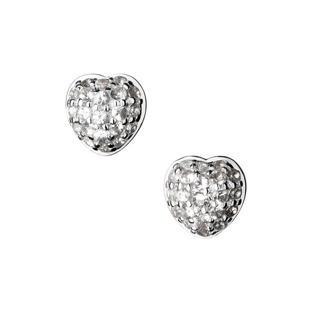 Links of London Love Note Sterling Silver and White Sapphire Stud Earrings - 5040.1790