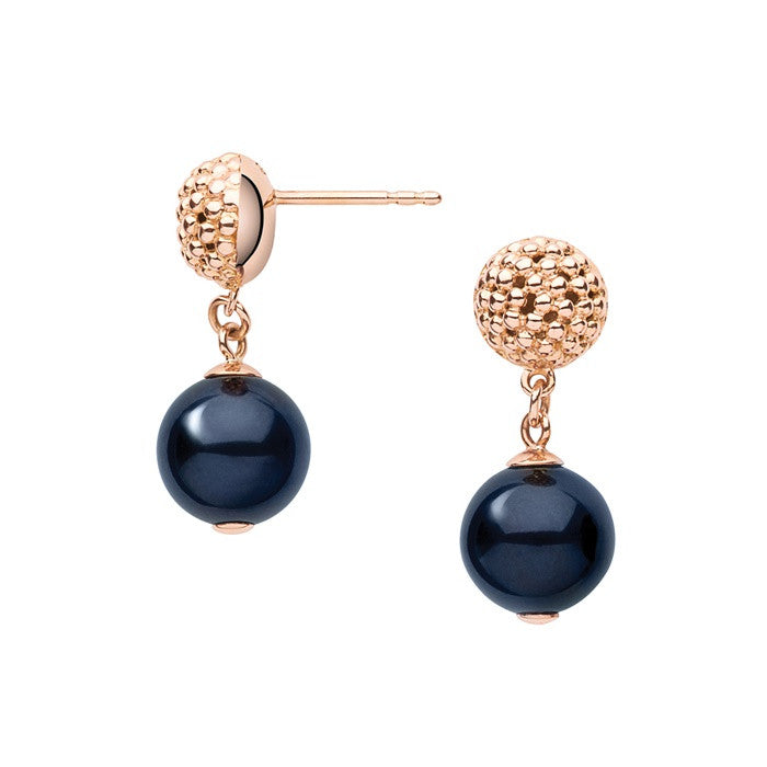 Links of London Effervescence Black Pearl Drop Earrings - 5040.1954