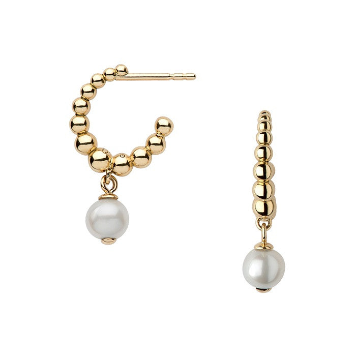 Links of London Effervescence White Pearl Hoop Earrings - 5040.1955