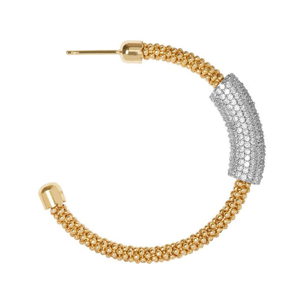Links of London Star Dust Yellow Gold Tube Hoop Earrings - 5040.2285