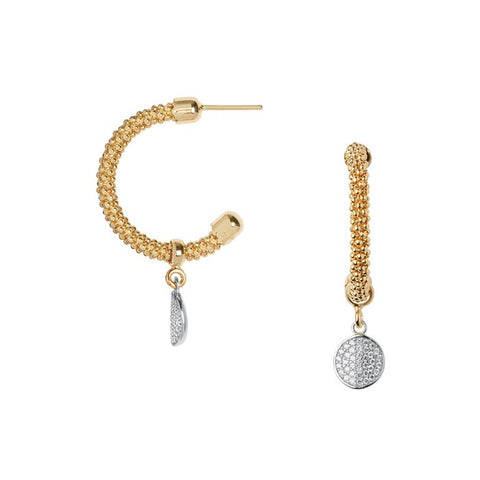 Links of London Star Dust Yellow Gold Round Drop Earrings - 5040.2297