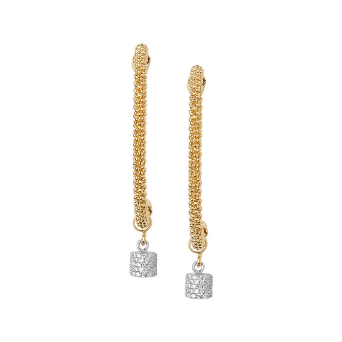 Links of London Star Dust Yellow Gold Bead Drop Earrings - 5040.2299