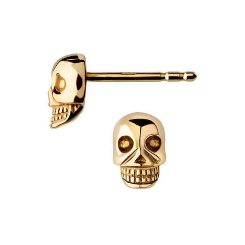 Links of London Yellow Gold Vermeil Mini Skull Stud Earrings - 5040.2309