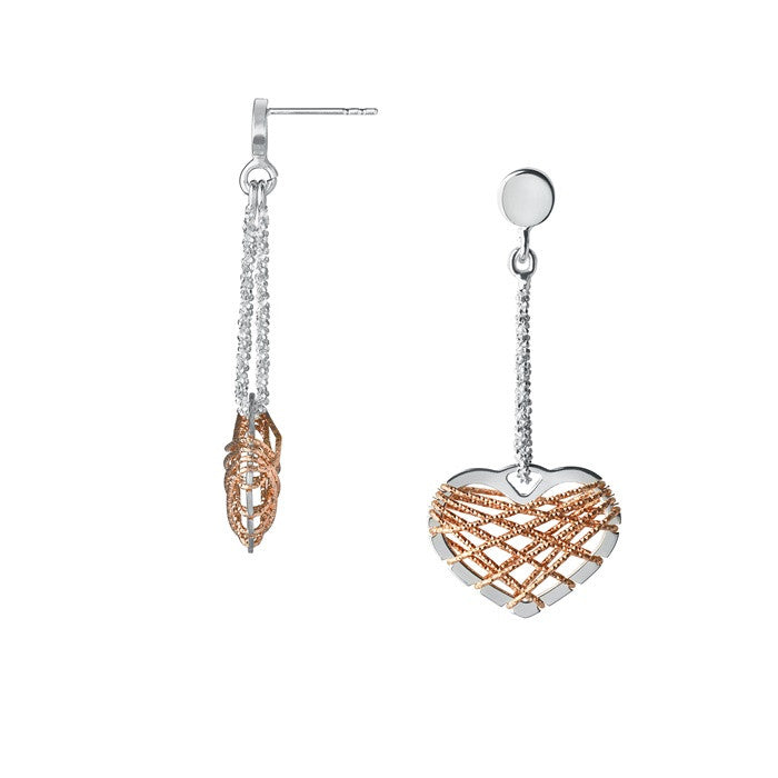 Links of London Dream Catcher Heart Rose Gold Earrings - 5040.2329