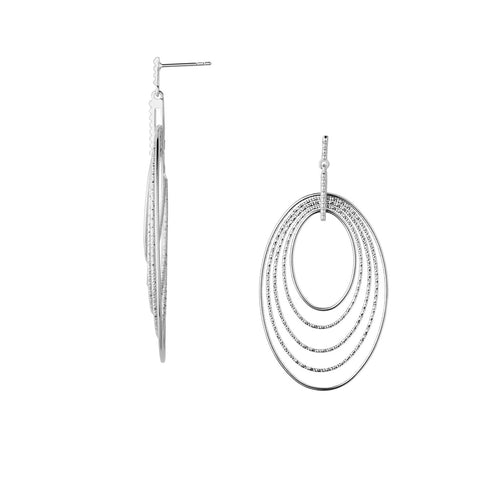 Links of London Aurora Sterling Silver Loop Earrings - 5040.2470
