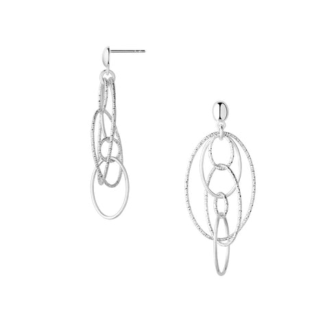 Links of London Aurora Sterling Silver Layer Loop Earrings - 5040.2474
