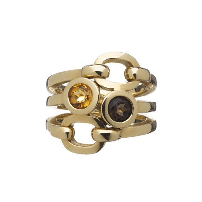 Links of London Brit Lines 18k Gold Cocktail Ring - 5045.2080