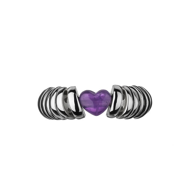 Links of London Sweetie Candy Hearts Amethyst Ring - 5045.2387