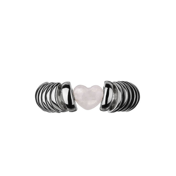 Links of London Sweetie Candy Hearts Rose Quartz Ring - 5045.2388
