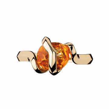 Links of London 18K Gold Entwine Citrine Ring - 5045.3321