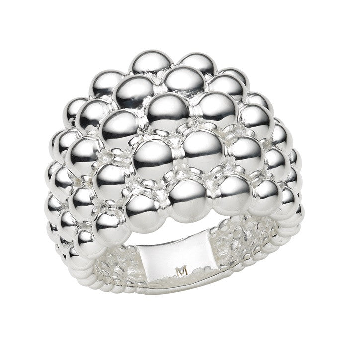Links of London Sterling Silver Effervescence Pearl Bubble Ring - 5045.3328
