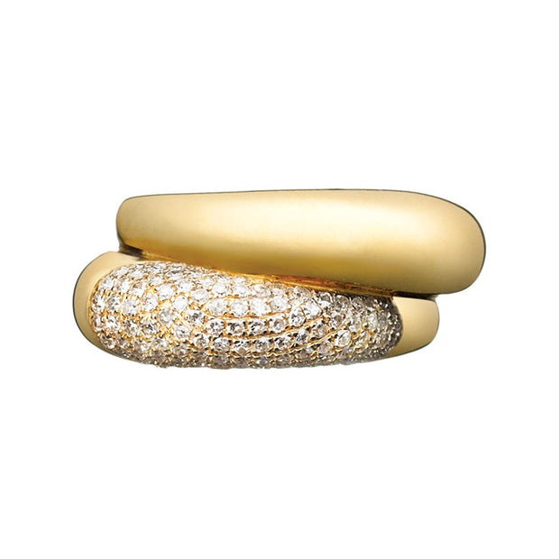 Links of London Hope 18k Gold Double Ring with Diamonds - 5045.3594