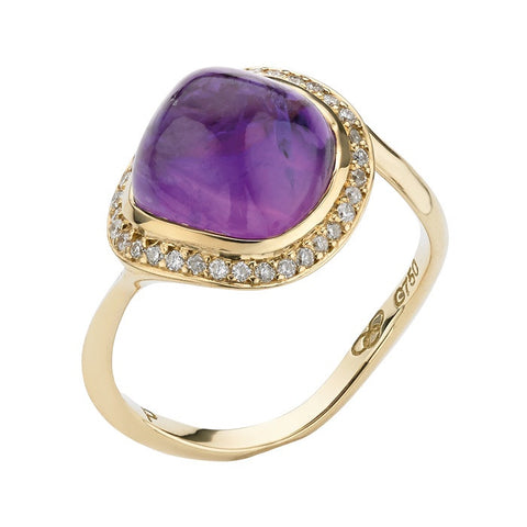 Links of London Yellow Gold Infinite Love Amethyst Ring - 5045.4069