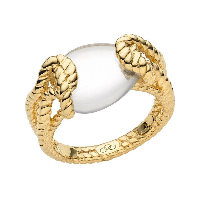 Links of London Golden Shores Yellow Gold Ring - 5045.4393