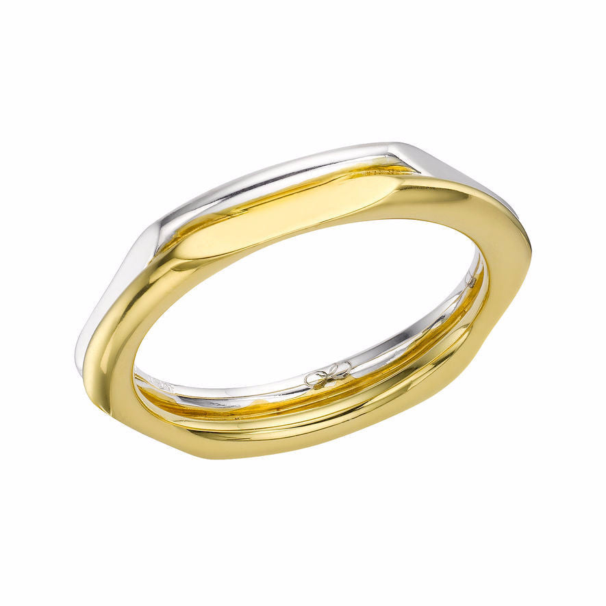 Links of London Sterling Silver/18K Yellow Gold 20/20 Bi-Metal Ring - 5045.4424