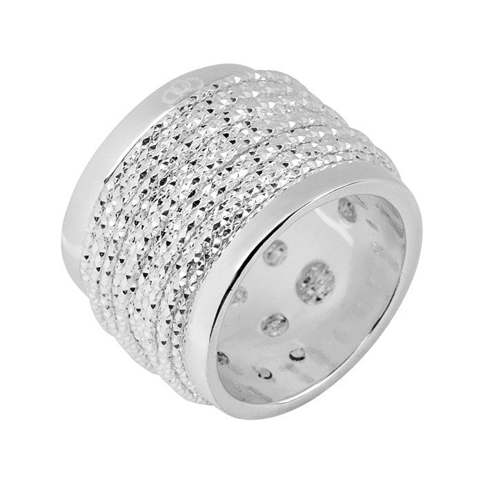 Links of London Celeste Wide Wrap Silver Ring - 5045.5050