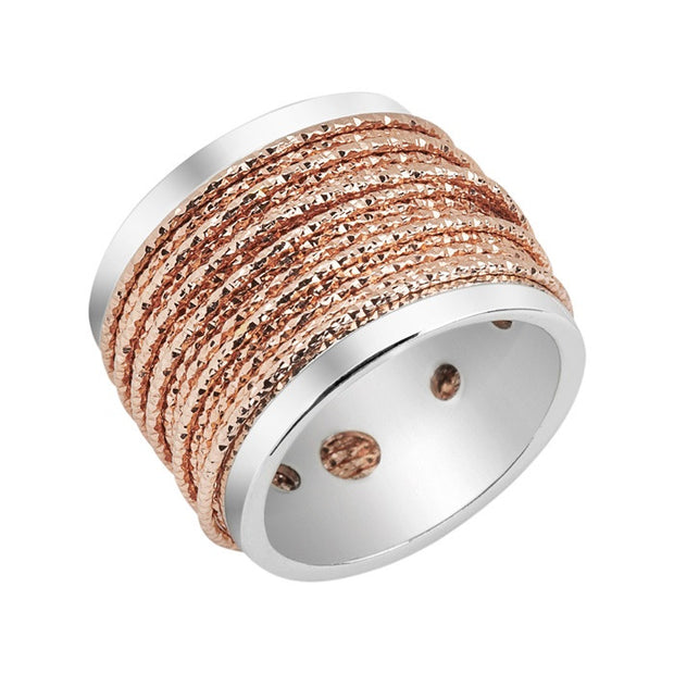 Links of London Celeste Wide Wrap Rose Gold Ring - 5045.5053