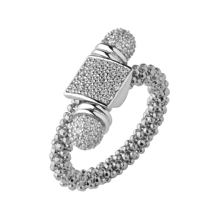 Links of London Star Dust Silver Square Toggle Ring - 5045.5177