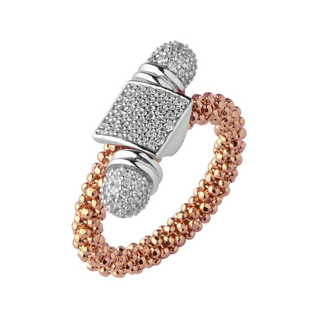 Links of London Star Dust Rose Gold Square Toggle Ring - 5045.5180