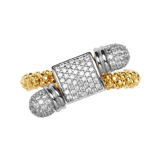 Links of London Star Dust Yellow Gold Square Toggle Ring - 5045.5183