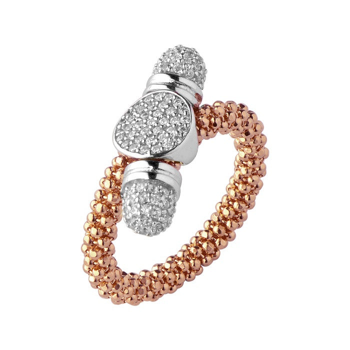 Links of London Star Dust Rose Gold Round Toggle Ring - 5045.5190