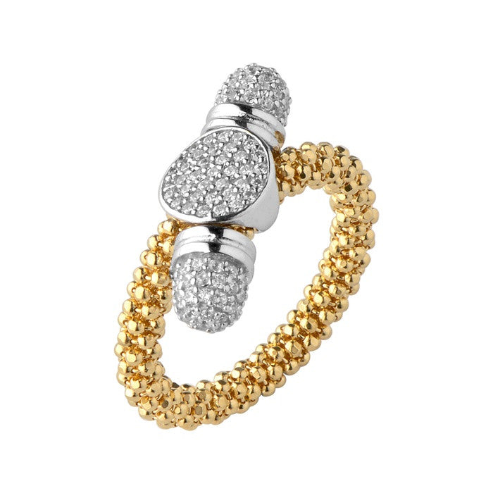 Links of London Star Dust Yellow Gold Round Toggle Ring - 5045.5193