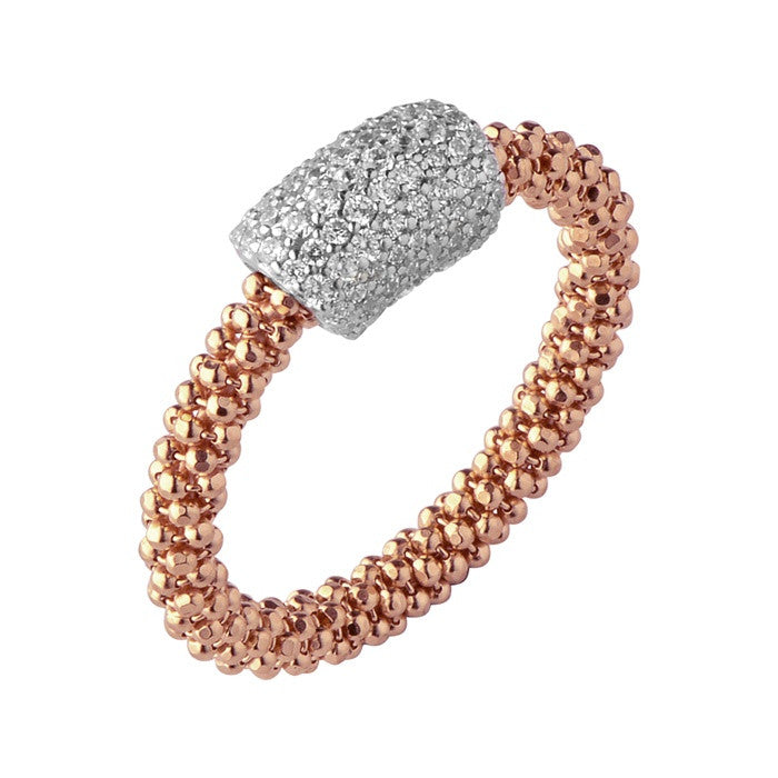 Links of London Star Dust Rose Gold Tube Ring - 5045.5205