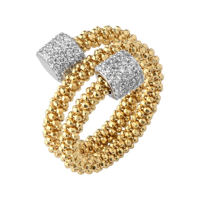 Links of London Star Dust Yellow Gold Bead Wrap Ring - 5045.5230