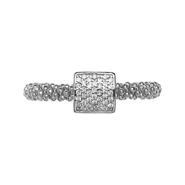 Links of London Star Dust Silver Square Ring - 5045.5235