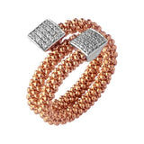 Links of London Star Dust Rose Gold Square Wrap Ring - 5045.5245