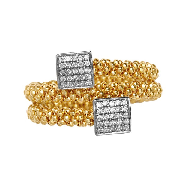 Links of London Star Dust Yellow Gold Square Wrap Ring - 5045.5249