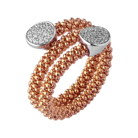 Links of London Star Dust Rose Gold Round Wrap Ring - 5045.5269
