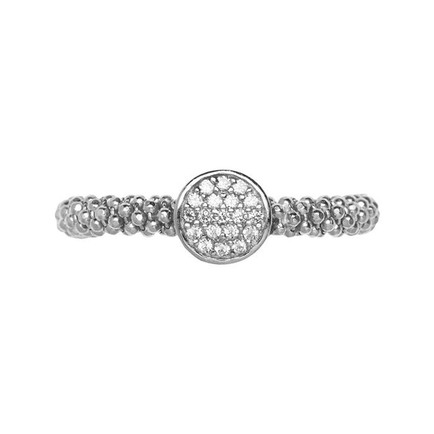 Links of London Star Dust Silver Small Round Ring - 5045.5282