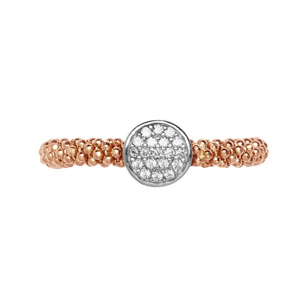 Links of London Star Dust Rose Gold Small Round Ring - 5045.5287