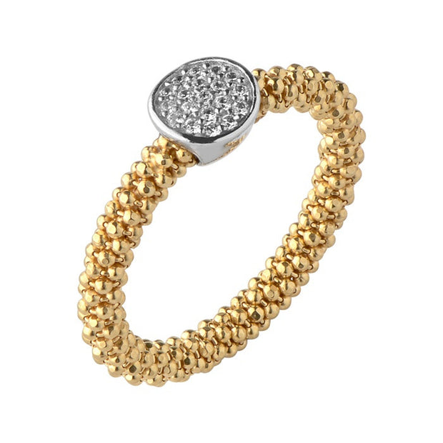 Links of London Star Dust Yellow Gold Small Round Ring - 5045.5288