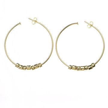 Links of London 18K Gold Allsorts Charma Hoop Earrings - 5040.0772