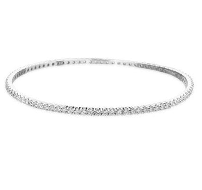 Hearts On Fire Eternity Channel Diamond Bangle