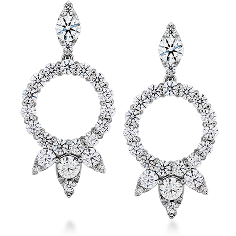 Hearts On Fire Aerial Circle Diamond Drop Earrings