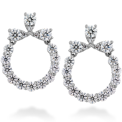 Hearts On Fire Aerial Circle Diamond Earrings