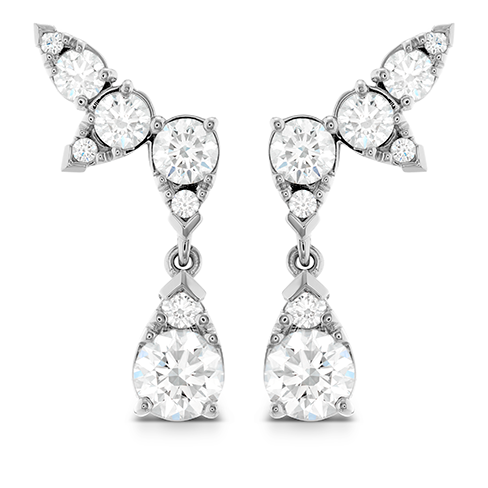 Hearts On Fire Aerial Diamond Drop Ear Vine Earrings