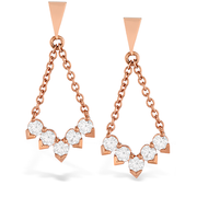 Hearts On Fire Aerial Diamond V Drop Earrings
