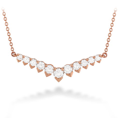 Hearts On Fire Aerial Diamond V Necklace