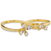 Hearts On Fire Aerial Diamond Double Ring